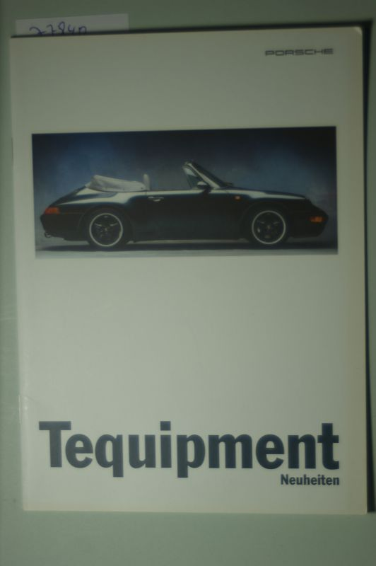 Porsche: A5 Prospekt Porsche Tequiment Neuheiten 08/1995
