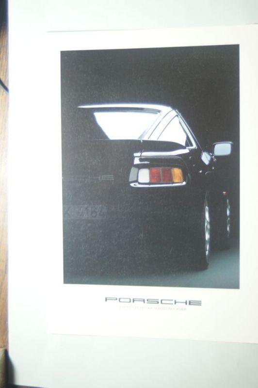 Porsche: Faltblatt Porsche Ludwig Porsche Team Soest aus den 1980igern