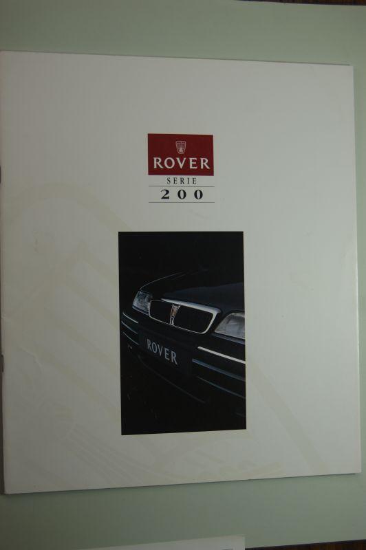 Rover: Prospekt Rover Serie 200