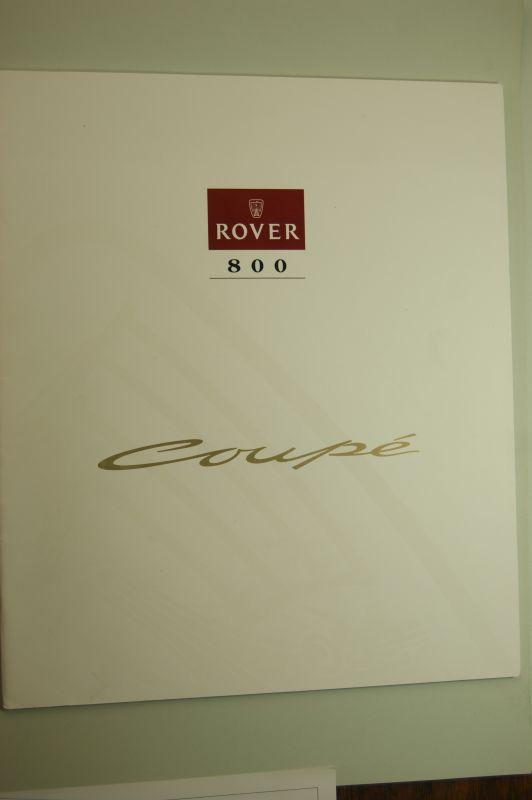 Rover: Prospekt Rover Serie 800 Coupe