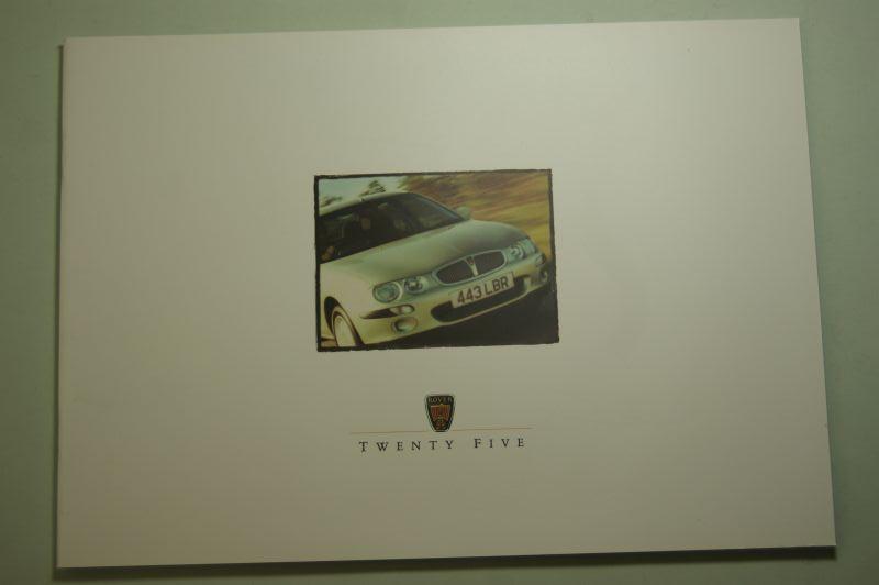 Rover: Prospekt Rover Twenty Five 2000