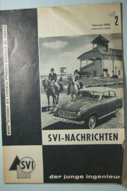 Studenten-Verbandes: Monatszeitschrift des Studenten-Verbandes Deutscher Ing-Schulen 02/1958