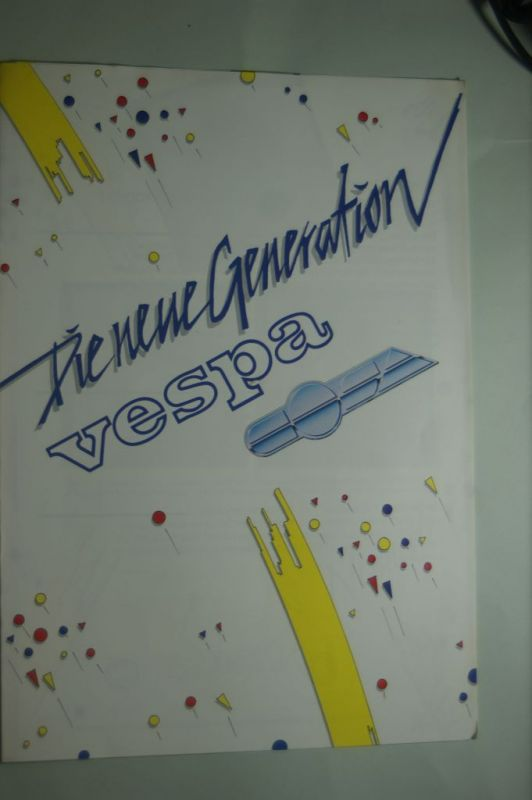 Vespa: Faltblatt Vespa Die neue Generation 1988