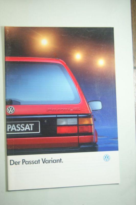 Volks: Prospekt VW Passat Variant 1991