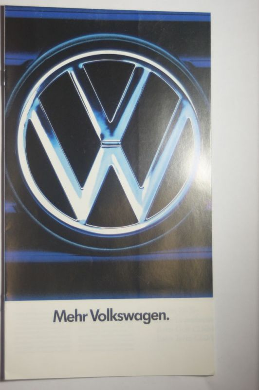 Volkswagen: 8 Seiten Prospekt Mehr Volkswagen 07/1986