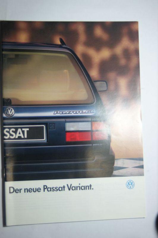 Volkswagen: Prospekt VW Passat Variant 03/1988
