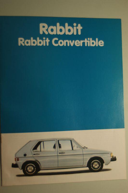 Volkswagen: Prospekt VW Rabbit Convertible USA