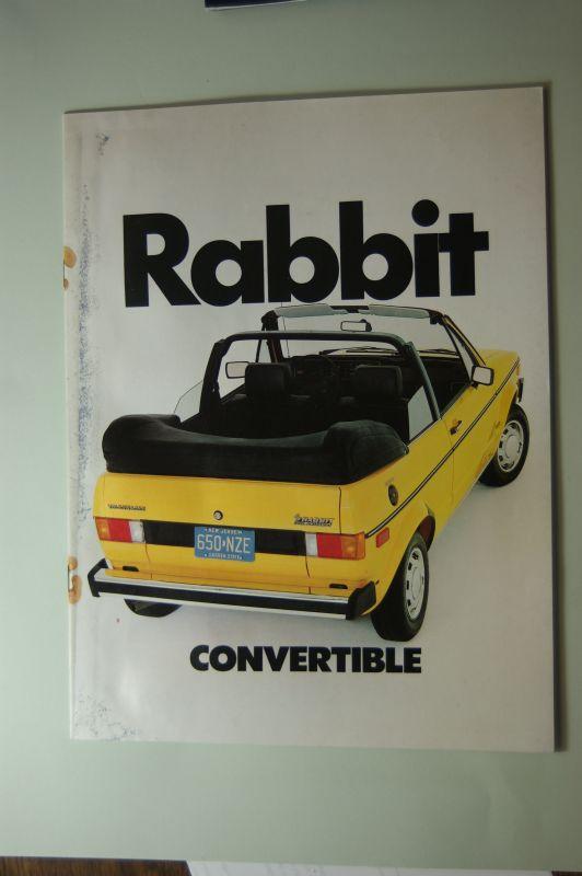 Volkswagen: Rabbit Convertible 1982