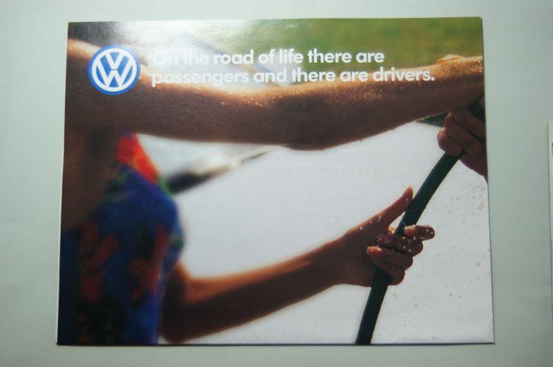 VW: Faltblatt VW Modelle USA