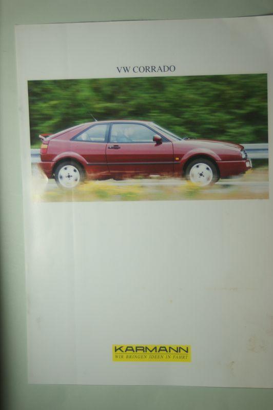 VW: Infoblatt VW Corrado Karmann aus den 1990igern