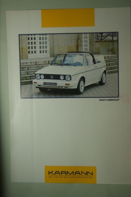 VW: Infoblatt VW Golf Cabriolet Karmann aus den 1990igern
