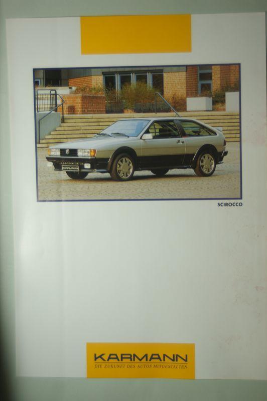 VW: Infoblatt VW Scirocco Karmann aus den 1990igern