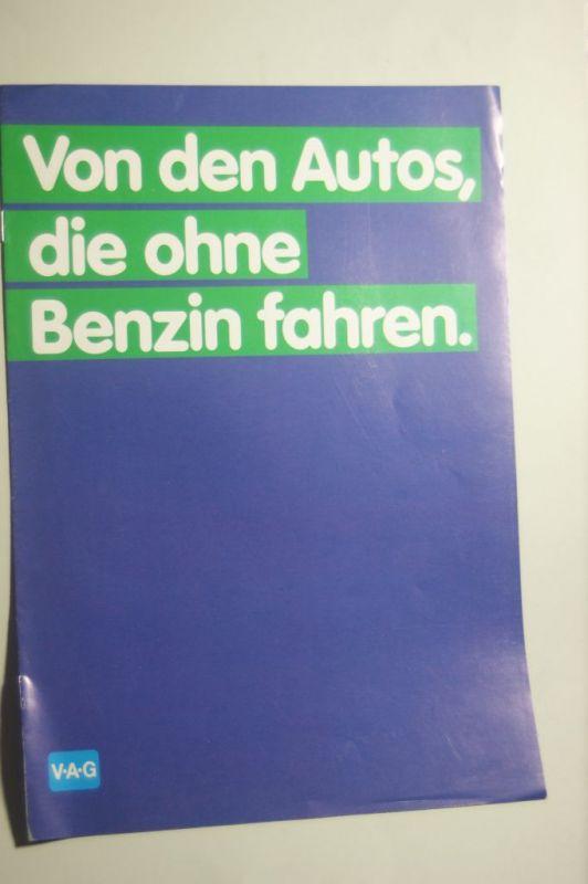 VW: Info-Broschüre Von Autos, die ohne Benzin fahren VW 12/1979 Diesel