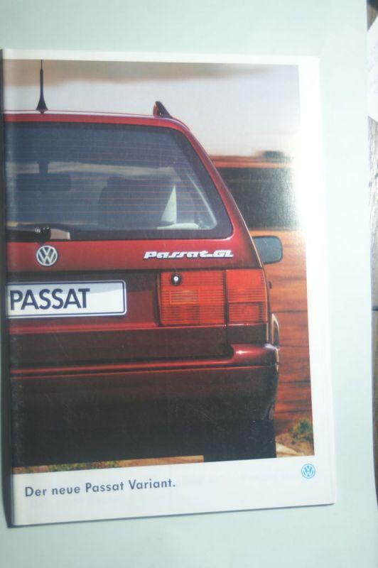 VW: Prospekt VW Der neue Passat Variant 08/1993