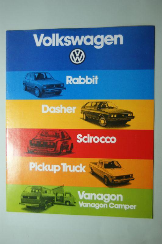 VW: Prospekt VW Modelle USA