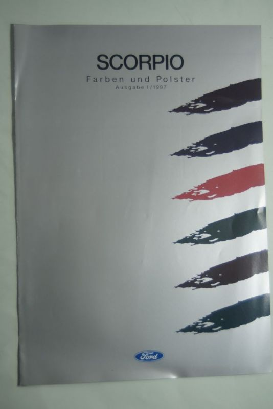 Ford: Faltblat Ford Scorpio Farben und Polster 1/1997