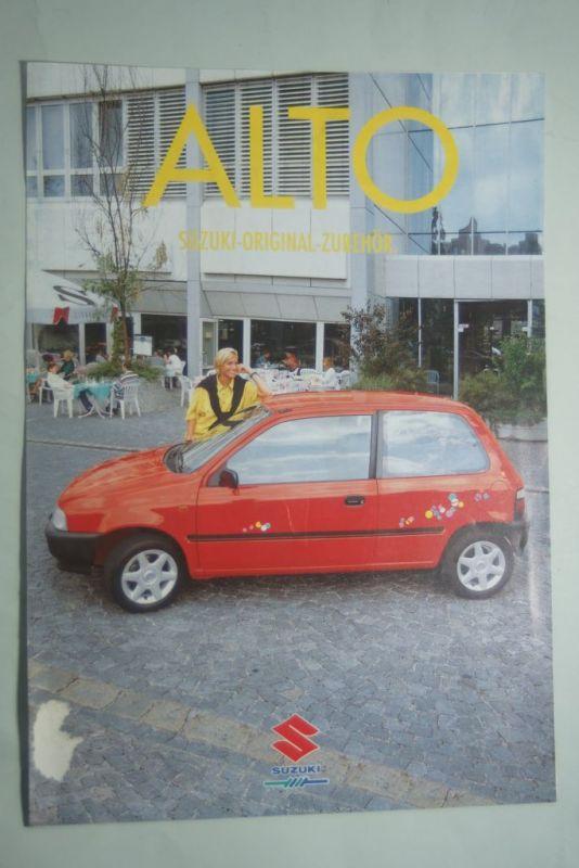 Suzuki: Faltblatt Suzuki Alto Zubehör 1995