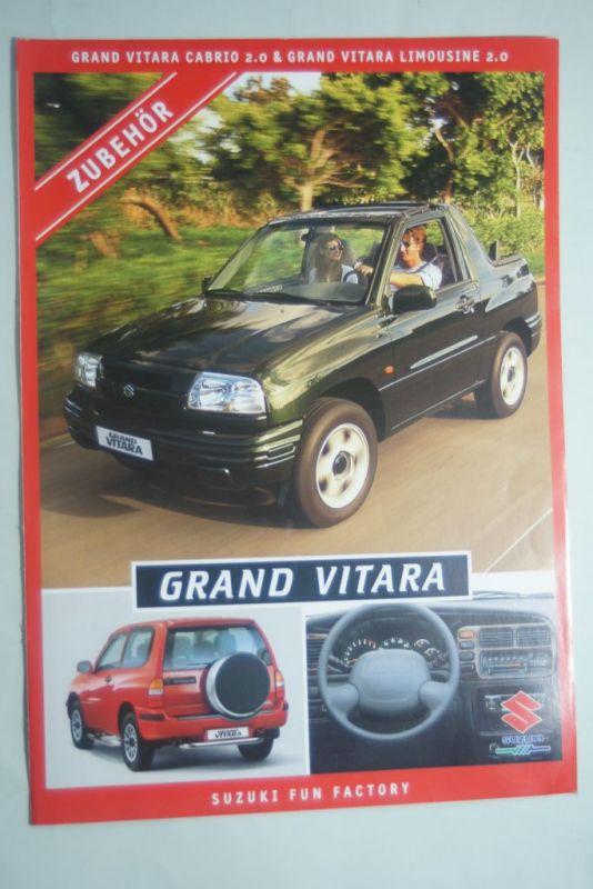Suzuki: Faltblatt Suzuki Grand Vitara Zubehör 1999