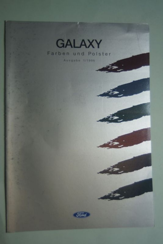Ford: Faltblatt Ford Galaxy Farben und Polster 1/1996