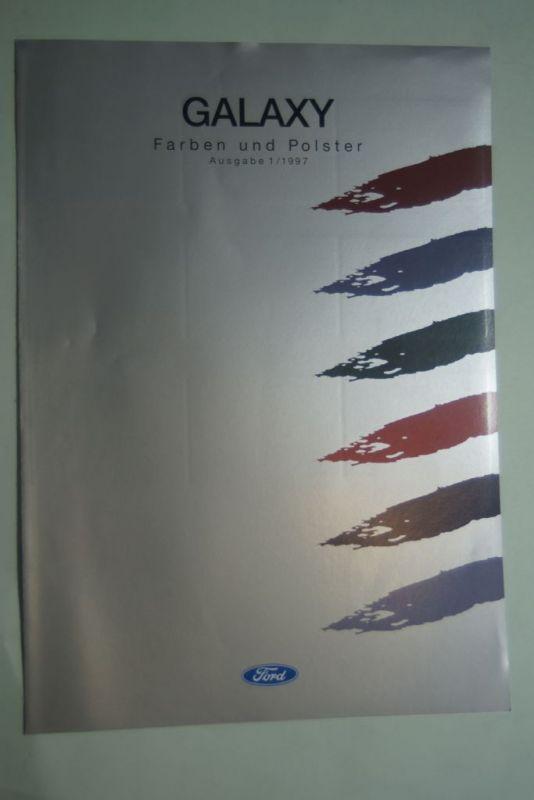 Ford: Faltblatt Ford Galaxy Farben und Polster 1/1997