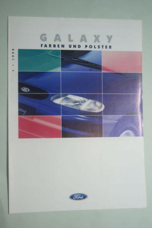 Ford: Faltblatt Ford Galaxy Farben und Polster I/1998