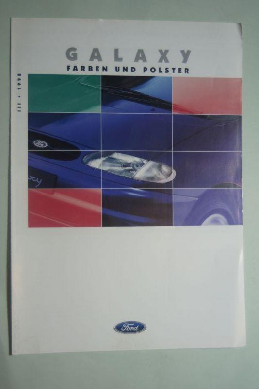 Ford: Faltblatt Ford Galaxy Farben und Polster III/1998