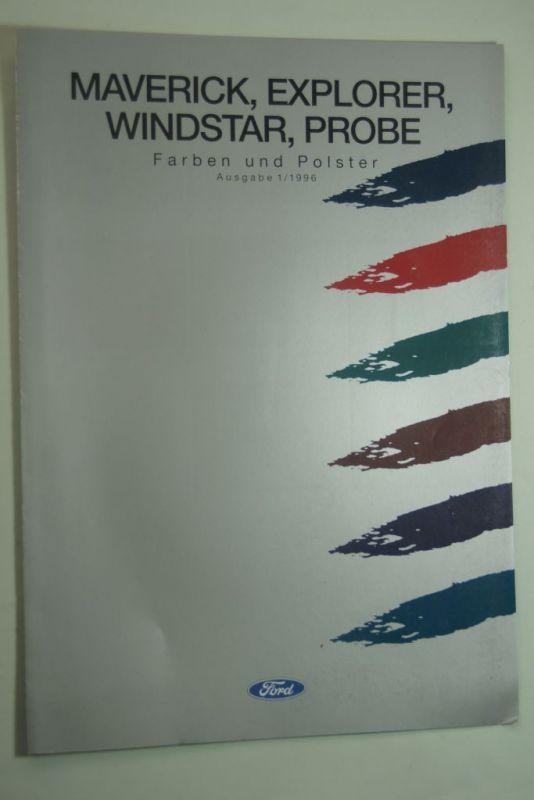 Ford: Ford Farben und Polster Maverick, Explorer, Windstar, Probe 1995