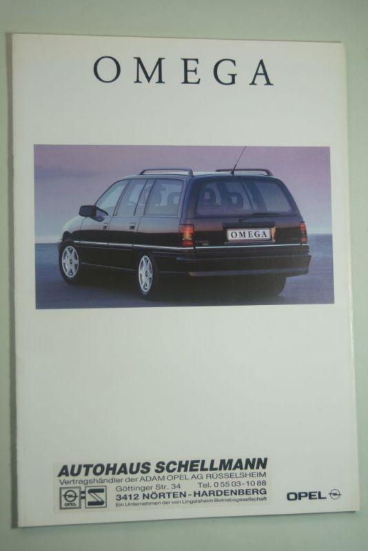 Opel: Prospekt Opel Omega 08/1992