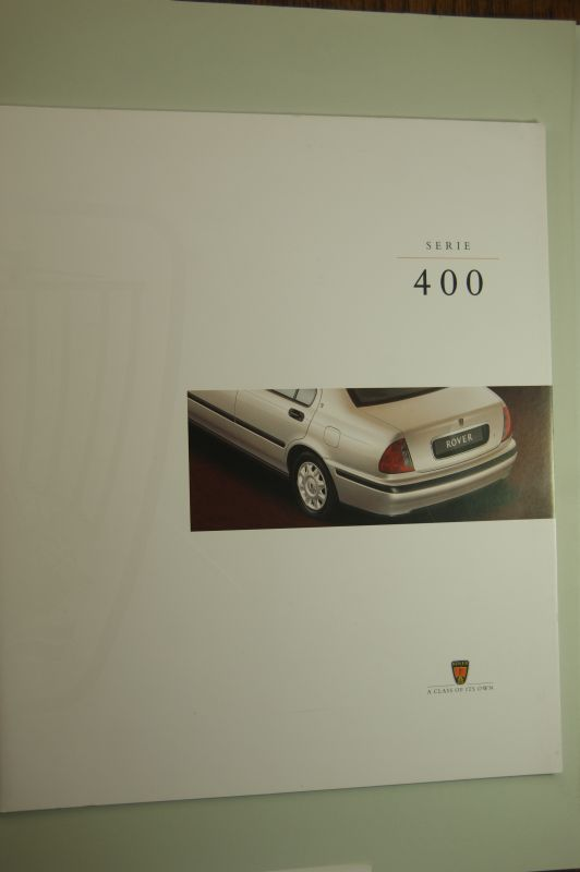 Rover: Prospekt Rover Serie 400
