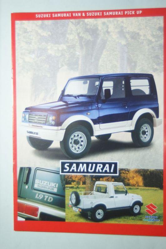 Suzuki: 8 Seiten-Prospekt Suzuki Samurai Van & Pick Up 1999