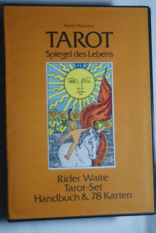 Mario, Montano: Tarot - Spiegel des Lebens. Rider Waite Tarot-Set, Handbuch & 78 Karten