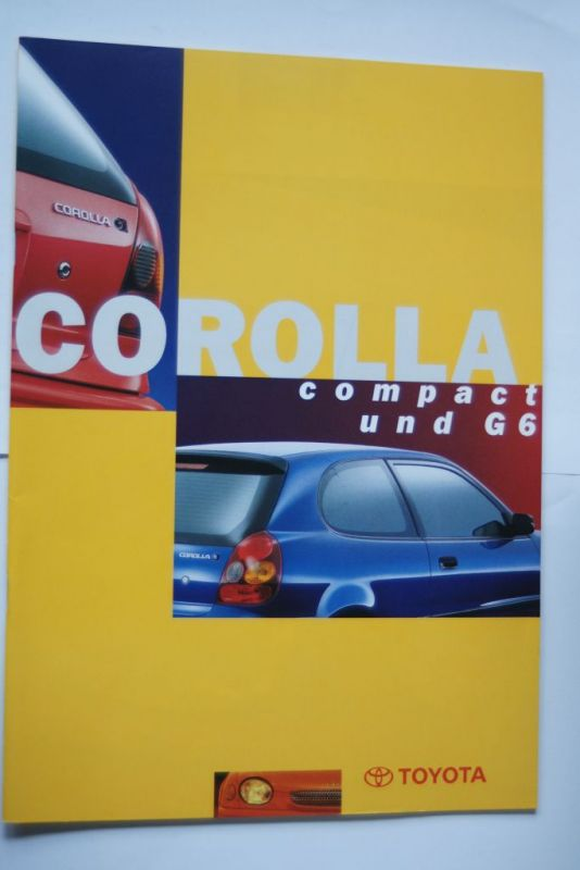 Toyota: Prospekt Toyota Corolla Compact und G6 07/1997
