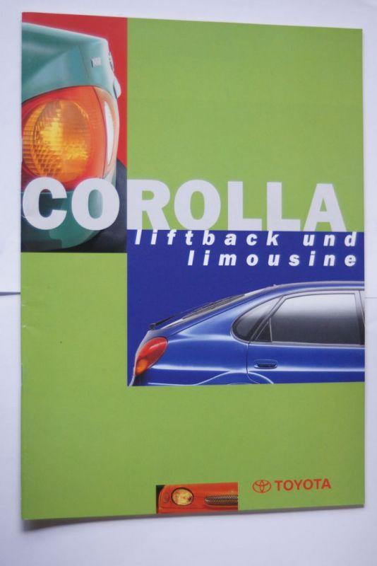 Toyota: Prospekt Toyota Corolla Liftback und Limousine 07/1997