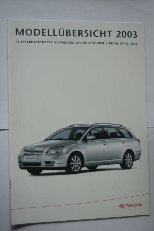 Toyota: Prospekt Toyota Modellübersicht 2003
