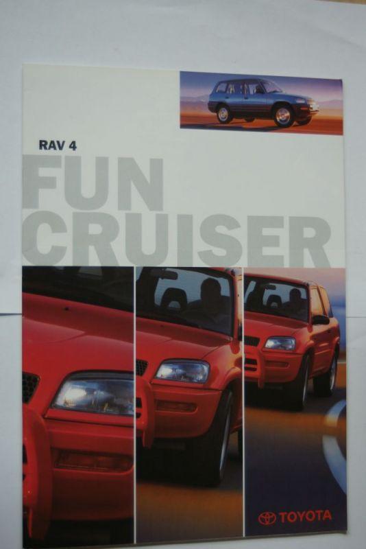 Toyota: Prospekt Toyota RAV 4 Funcriuser 11/1996
