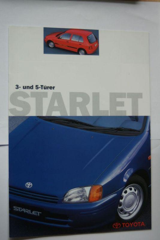 Toyota: Prospekt Toyota Starlet 3- und 5-Türer 03/1996