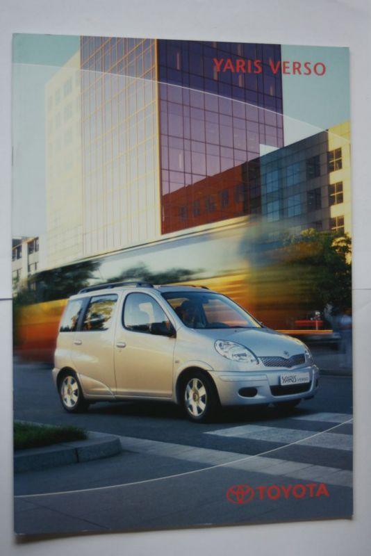Toyota: Prospekt Toyota Yaris Verso 12/2002