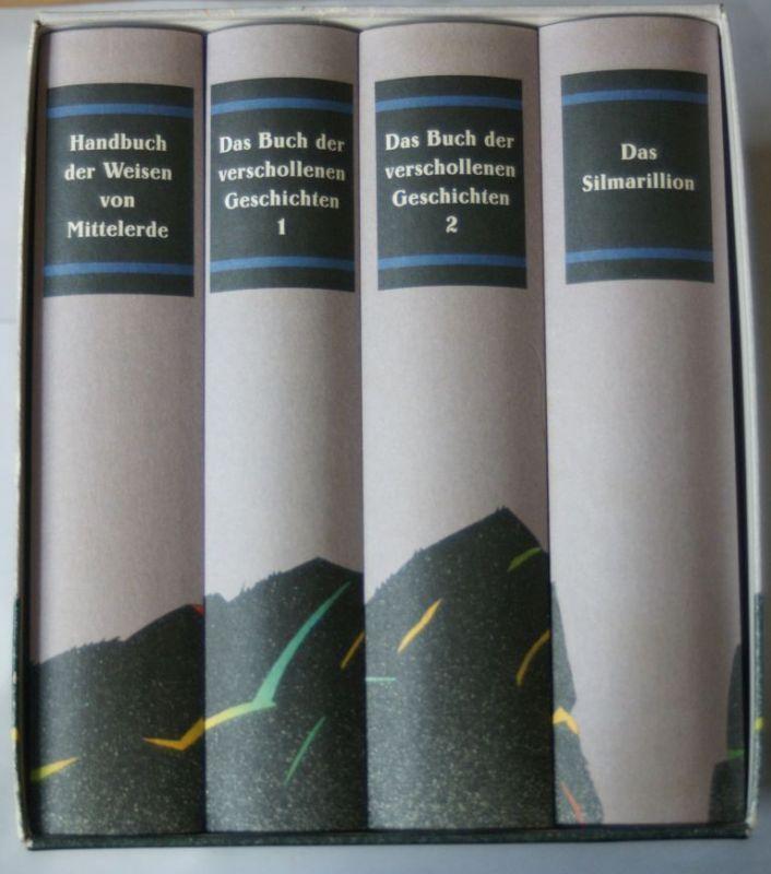 Christopher, Tolkien, R. R. Tolkien John und Krege Wolfgang: Die Sagen von Mittelerde (4 Bände im Schuber)