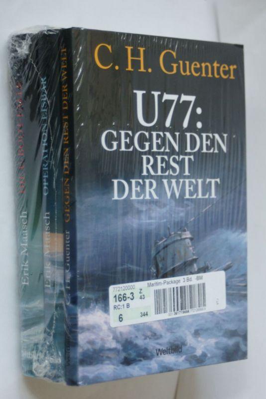 Guenter, C. H.: U77: Gegen den Rest der Welt.Erik Maasch Operation Eisbeer - Die U-Boot-Falle 3 Bände