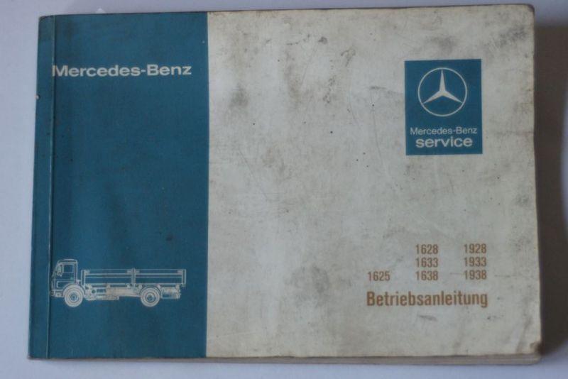 , Mercedes-Benz: Mercedes-Benz Service Betriebsanleitung 162516281633163819221928193319361938