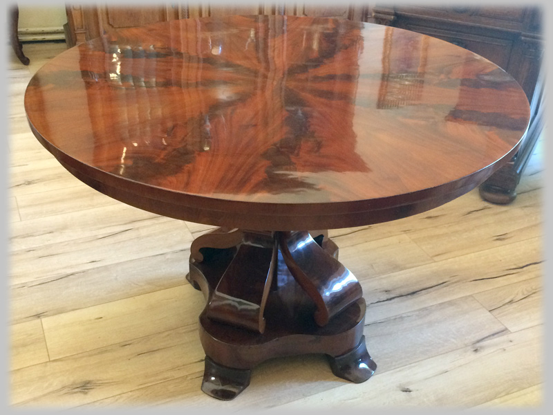 runder biedermeier tisch mahagoni um 1830 nr b115 oldthing esstische. Black Bedroom Furniture Sets. Home Design Ideas