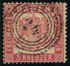 3 Kreuzer rot auf wei�em Grund, eng gez�hnt mit 5-Ring Zackenkranzstempel