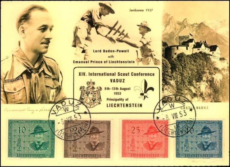1953, Liechtenstein: XIV. International Scout Conference Vaduz, Pfadfinder