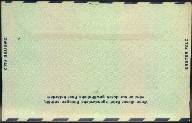 1949: 100 Pfg. Luftpostleichtbrief adressiert nach USA, gestempelt (1) BELRIN-NEUKÖLLN 1. Ohne Inhalt. 1