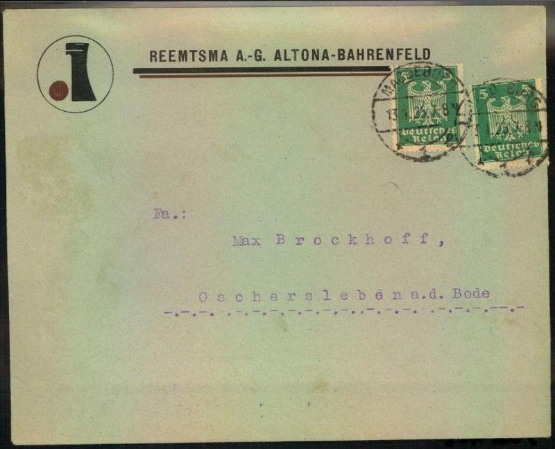 1925, toller Firmen-Werbebrief,  Reklame, Tabak, REEMTSMA A.-G. Altona-Bahrenfeld