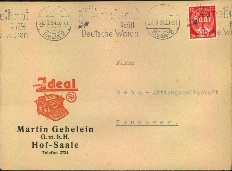 1934, toller Firmen-Werbebrief,  Reklame,