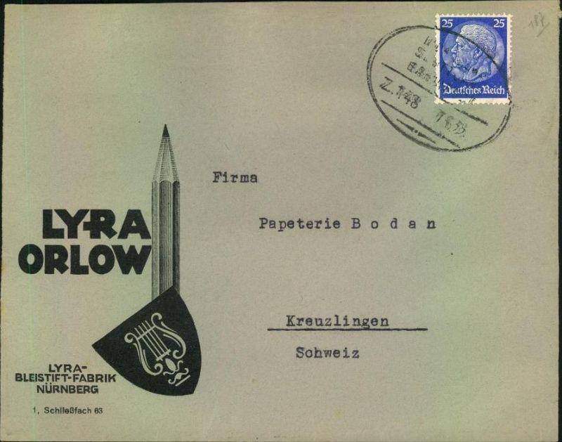 1933, toller Firmen-Werbebrief,  Reklame,