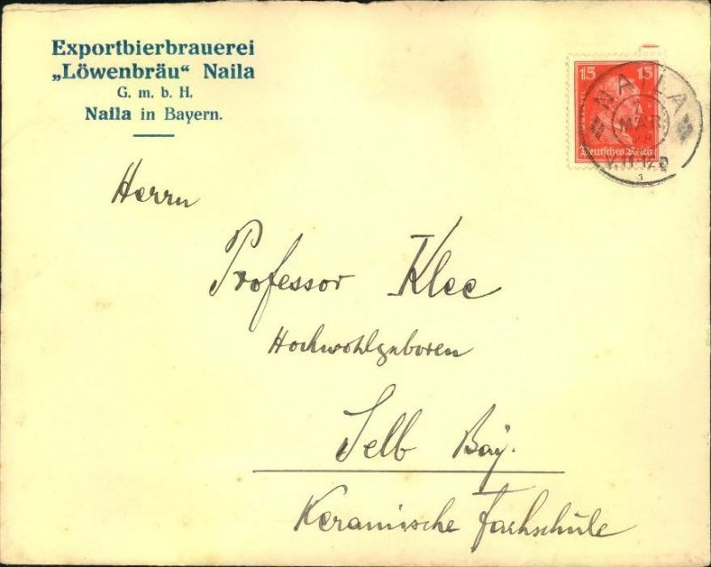 1928,NAILA, toller Firmen-Werbebrief,  Reklame, Exportbierbrauerei
