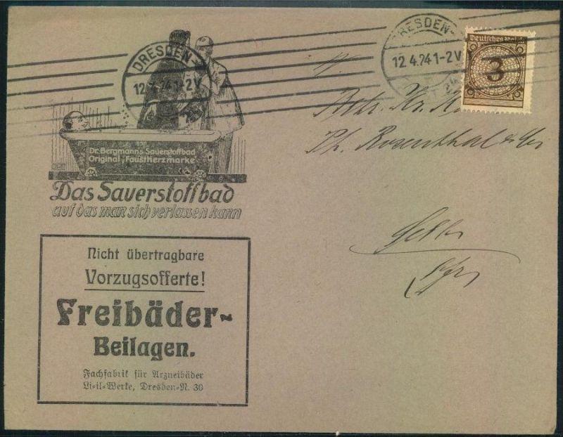 1924,DRESDEN, toller Firmen-Werbebrief, Reklame,Dr. Bergmanns