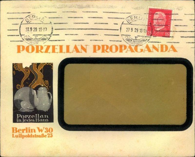 1929,BERLIN W30, toller Firmen-Werbebrief, Reklame,